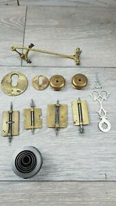Vintage Grand Father Clock Parts For Spares Or Repairs Pinions Fly Banks