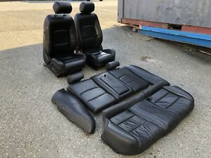 03 08 Jaguar S type R Seats Set Black Leather 67k Miles Supercharged Sport Oem