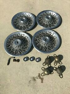 15 Wire Hubcaps With Locks And Keys