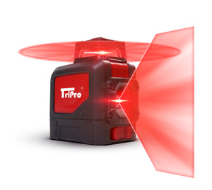 3d 360 Plane Line Auto level Red Rotary Cross Laser Tripro Receiver Detector