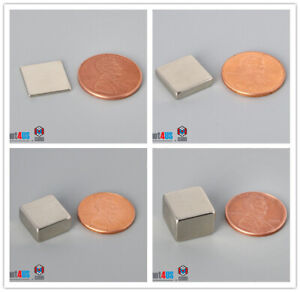 Multiple Thickness 12 7mm 1 2 Length Square Rare Earth Neodymium Block Magnets