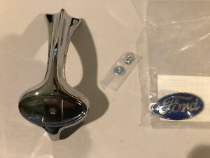 1934 1935 Ford Pickuo Hood Ornament And Badge