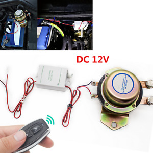 12v Universal Car Suv Wireless Remote Control Battery Cut off Disconnect Switch