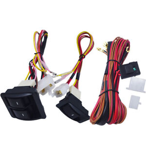 Universal Car Electric Power Window Switch Holder Kit 12v 24v Wire Harness Truck
