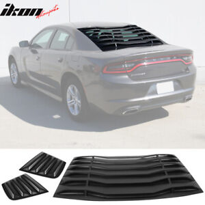 Fits 11 20 Dodge Charger V2 Style Rear Side Window Louver Air Vent