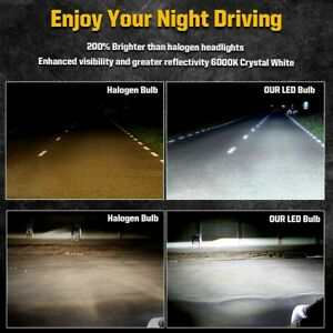6x 6000k White Led Headlight Fog Lights Bulbs Fit For Chevy Colorado 2015 2018