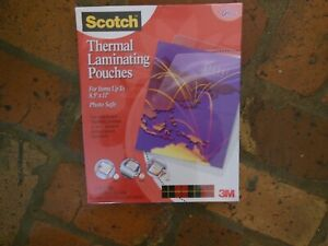Scotch Laminating Pouches Thermal For 8 5 X 11 Photo Safe 50 Pouches
