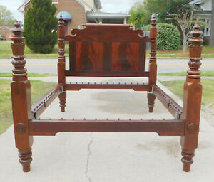 Outstanding Mahogany American Empire Bed Full Size