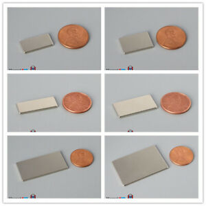 Multiple Size 1 5mm 1 16 Thickness Large Rare Earth Neodymium Rectangle Magnets
