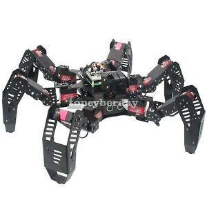 18dof Hexapod Spider Robot Frame Servos Kit For Raspberry Pi 4b Unassembled
