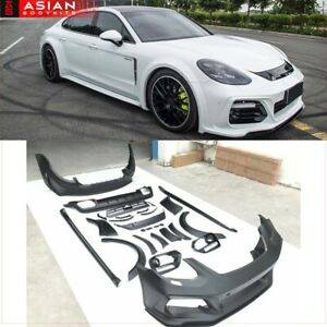 Wide Body Kit For Porsche Panamera 971 2017 Front Bumper Side Skirts Diffuser