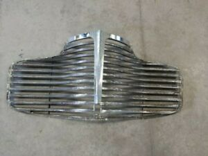 Original 1941 41 Chevy Grille Metal Chrome Chevrolet Free Grille T Bar Included