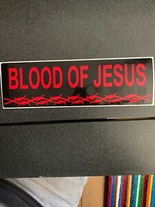 Blood Of Jesus Bumper Sticker 3 X 10 Inches