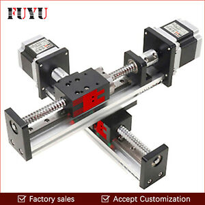 Ball Screw Drive Cnc Linear Stage Actuator Slide Motion Guide Rail Nema 23 Motor