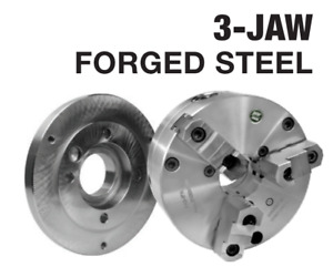 6 3 Jaw D1 3 Forged Steel Self Centering Scroll Lathe Chuck And Adapter Kit