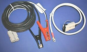 Commercial Service Plug Connector Booster Cable Set 4 Gauge 20 Foot Usa Made