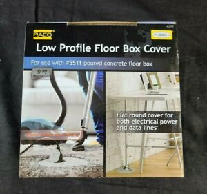 Hubbell Raco 6299 Round Floor Box Cover Kit Non metallic Two lift Lids Gray