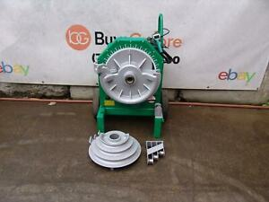 Greenlee 555 Pipe Bender 1 2 To 2 Inch With Rigid Shoes 1818 855 Works Great