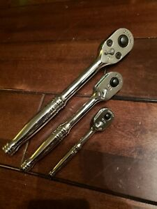 New Snap On Rat80 3 Pc Ratchet Set T72 F80 S80a Free Priority Ship