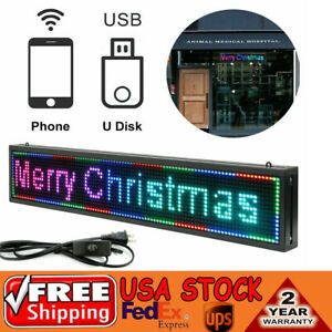 Led Sign 40 x8 Scrolling Message Display Board 7color Programmable Sale
