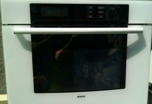 Bosch Electric Wall Oven 700 Series White Glass Face 6min Preheat