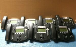 Lot Of 7 Polycom Soundpoint Ip 650 Ip650 Phone W Handset No Stand