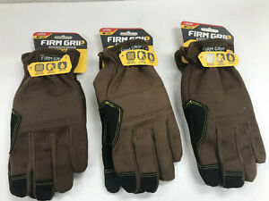 Firm Grip 55362 Trademaster Gloves Duck Canvas Impact Protection Large Lot Of 3