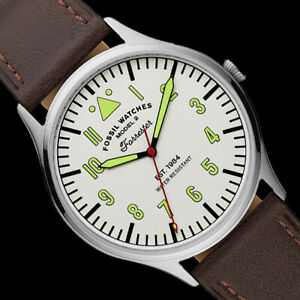 NIB Fossil Forrester Three-Hand Brown Leather Watch High Visibility Dial FS5610 $38.89