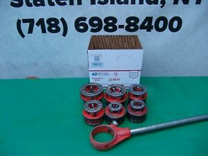 Ridgid 12 r Die Set Pipe Threader 1 2 To 2 Inch For 300 Great Shape 12