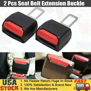 Universal 2pcs Auto Car Safety Seat Belt Extension Alarm Extender Clip Buckle