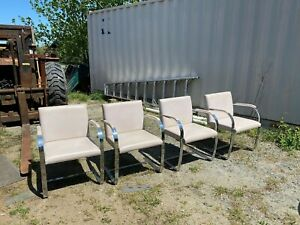 Set Of Four Mies Van Der Rohe Brno Chairs W Original Upholstery By Knoll Int