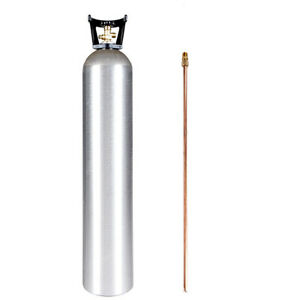 35 Lb Co2 Cylinder New Aluminum Siphon Tube Handle Cga320 Valve Hydro test