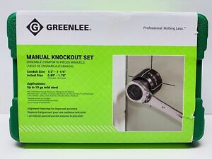 Greenlee 735bb Knockout Punch Kit 1 2 To 1 1 4 Conduit Size Brand New