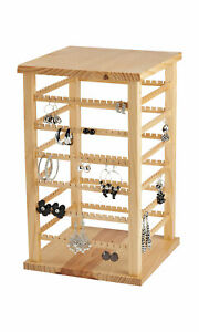 Large Wood Rotating Earring Display