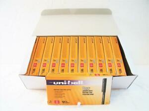 144 pens Uni ball Onyx Red Ink Fine Point 0 7mm Roller Ball 1 case New 60144