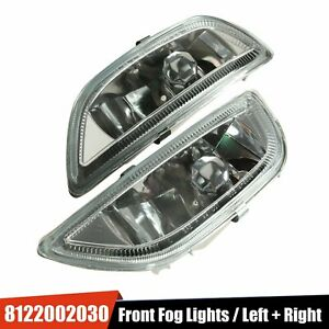 Clear Glass Fog Driving Lights Front Bumper Lamp For 2001 2002 Toyota Corolla