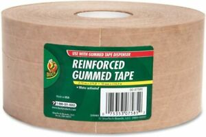 Qty 8 Duck Duc964913ct Reinforced Gummed Tape Roll 2 75 X 125 Yds