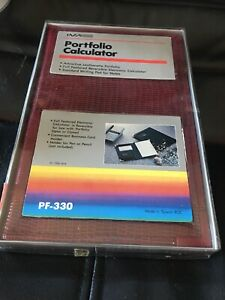Vintage Ima Pf 330 Business Portfolio Organizer W calculator Pad 1982