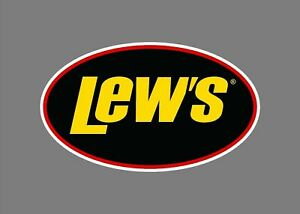 Lew S Rods Reels Fishing Out Doors Boat Tackle Box Sticker Decal 2 75 X 1 75
