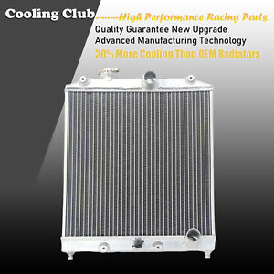 Fit 92 01 Honda Civic Ek Eg Acura Integra In out 32mm 2 Row Aluminum Radiator