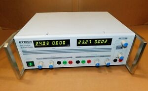 Extech 382285 Dual Tracking 60v 1 5a Triple Output Dc Power Supply Used