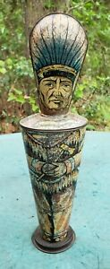 Rare Antique Lyons Assorted Toffieskotch American Indian Toffee Container