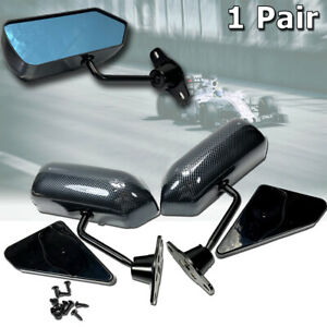 F1 Carbon Look Blue Racing Side Mirror Civic Accord Prelude Nsx Rsx Integra Crx