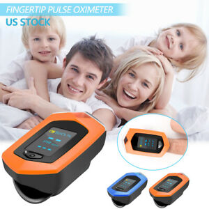 Fingertip Pulse Oximeter Pulse Rate Blood Oxygen Saturation Monitor With Pr Spo2