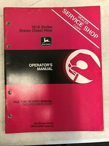 John Deere Dealer Operators Manual 1610 Series Drawn Chisel Plow Om n159588 J2