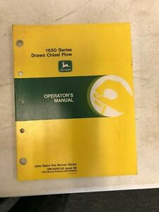 John Deere Operators Manual 1650 Drawn Chisel Plow Om n200143 K8 Replaces 52