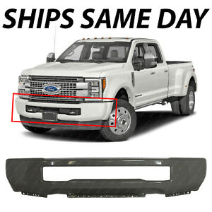 New Primered Gray Front Bumper Face Bar For 2017 2019 Ford F450 F550 Super Duty