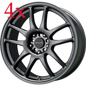 Drag Wheels Dr 31 16x7 5x114 Gunmetal Gray Rims For Honda Civic Accord Crv Hrv