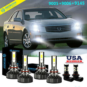 6x Led Headlight foglight Bulbs 6000k For Cadillac Cts 2003 2004 2005 2006 2007