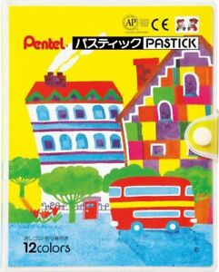 Pentel Crayon Color Pencils Path Stick Gc1 12d 12 Colors